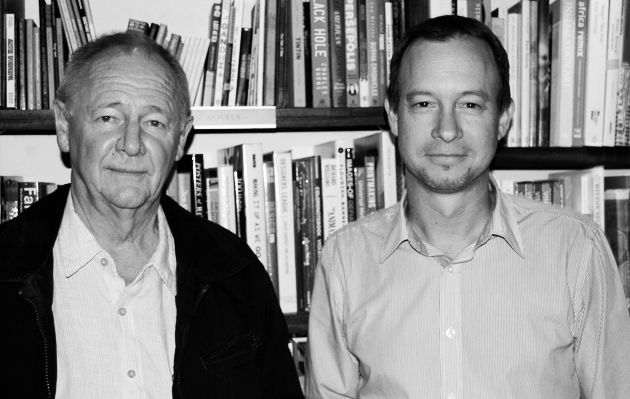 Michiel Heyns and Andrew Brown (Photo by Liesl Jobson, Books LIVE)