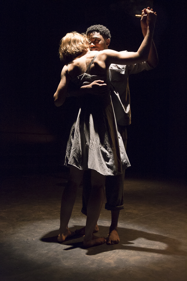 Maggie Gerricke and Gantane Kusch in ' Present in Culpa' directed by Kathleen Stephens - Photo: Jesse Kramer