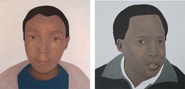 Left: Anene (After Anene Booysen) 2013 Right: Hani (After Chris Hani) 2013