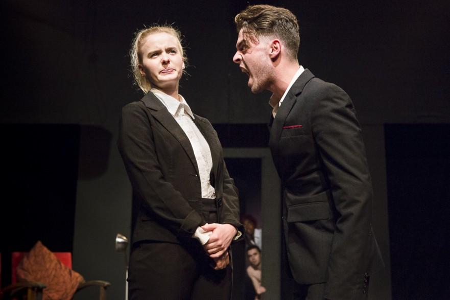 Jazzara Jaslyn and Nathan Lynn in 'The white man's guide to sacrifice' directed by Alex McCarthy - Photo: Jesse Kramer