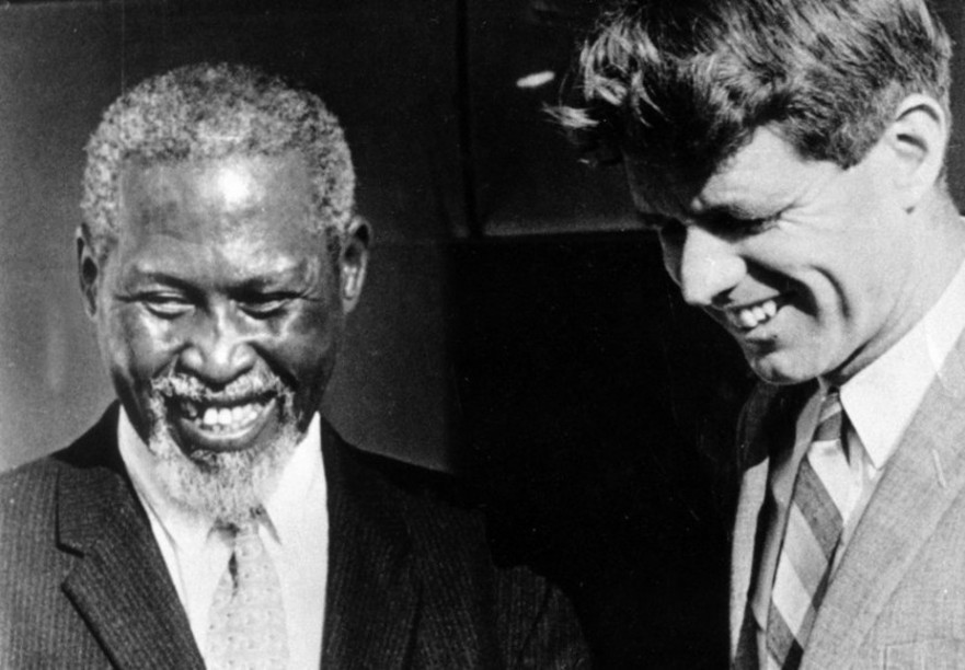 During his 1966 visit to South Africa, US Senator Robert F Kennedy met with ANC leader Chief Albert Luthuli. (Shoreline Productions)